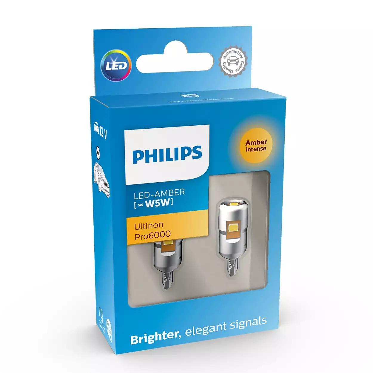 LED W5W 12V 0,5W Ultinon Pro6000 SI Amber Intense ...