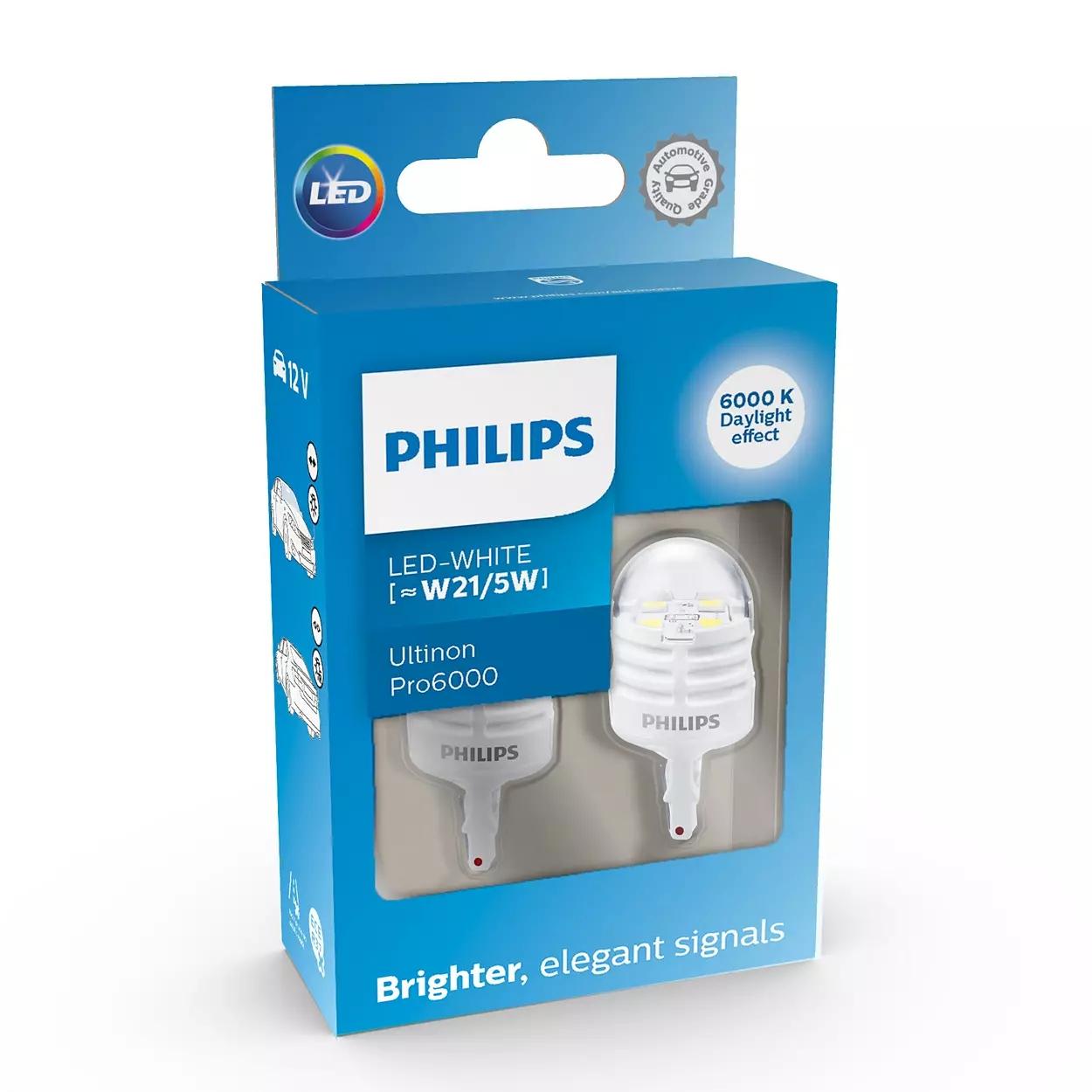 LED W21/5W 12V 2.5/0.5W Ultinon Pro6000 SI 6000K ...