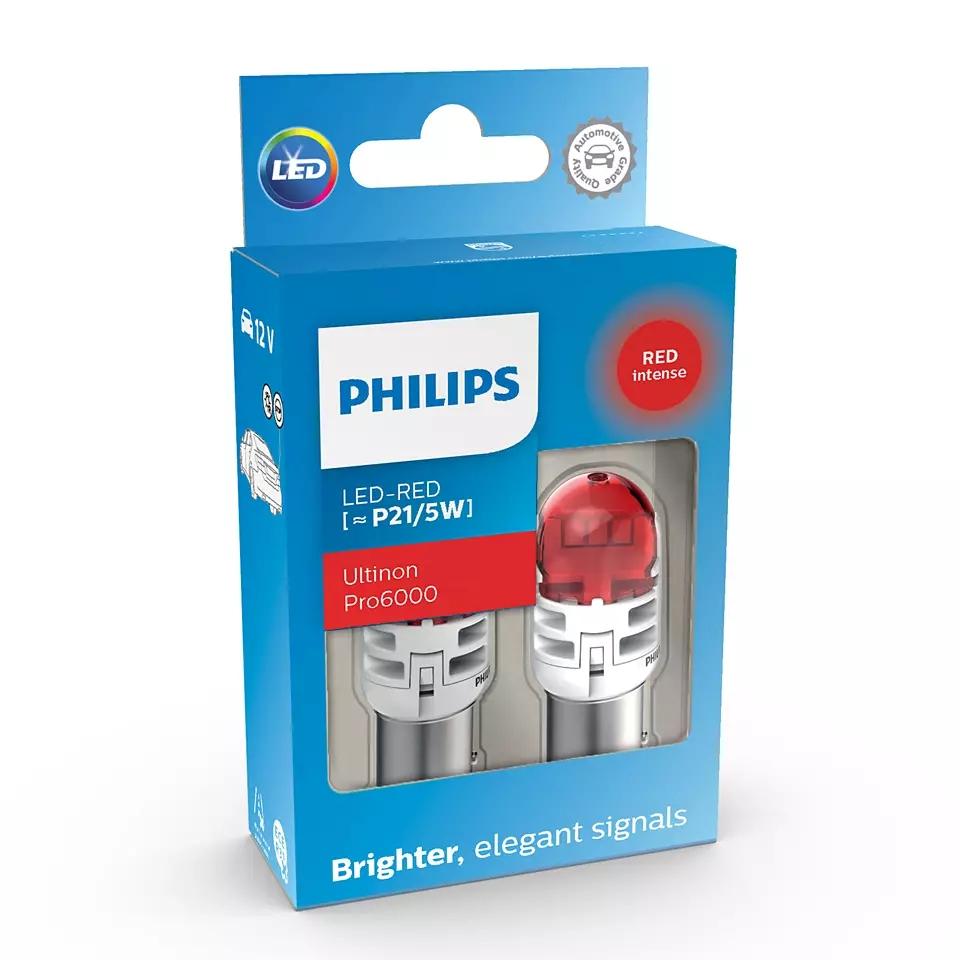 LED P21/5W 12V 2.5/0.5W Ultinon Pro6000 SI Red ...