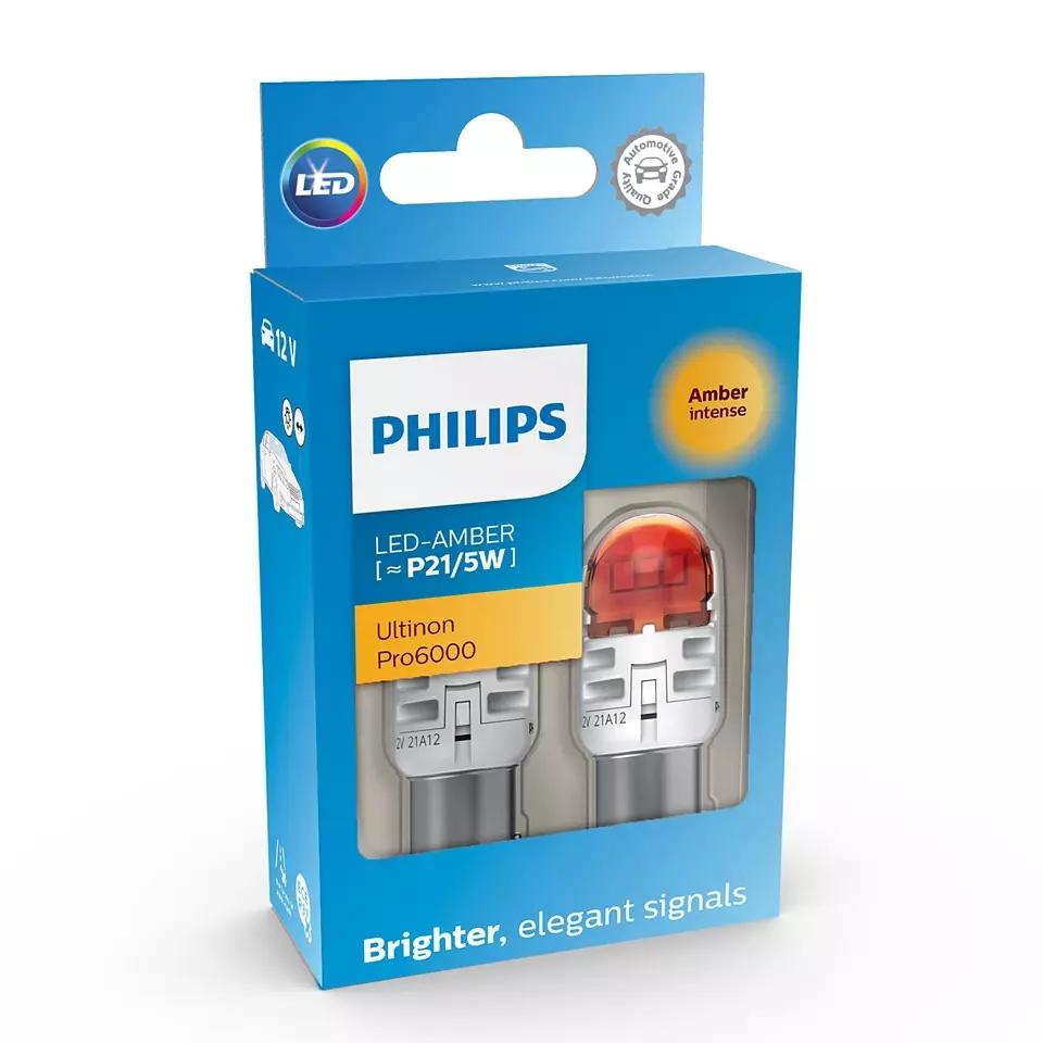 LED P21/5W 12V 2.5/0.5W Ultinon Pro6000 SI Amber ...