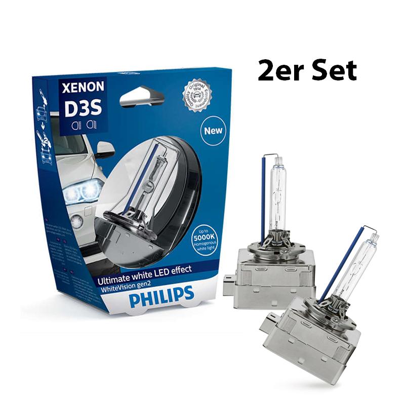 D3S-42V-35W-WhiteVision-Xenon-gen2-2St-Philips-H6W-Standlicht-Sonax-Klarsicht Indexbild 7