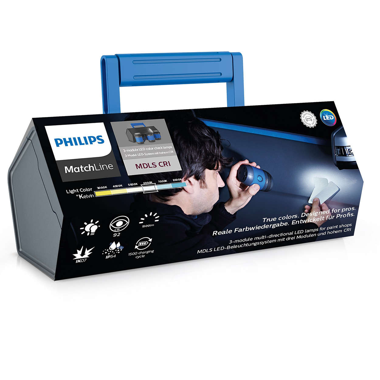 LED-Werkstattlampe-MDLS-hohe-CRI-Multidirektionales-Beleuchtungssystem-Philips