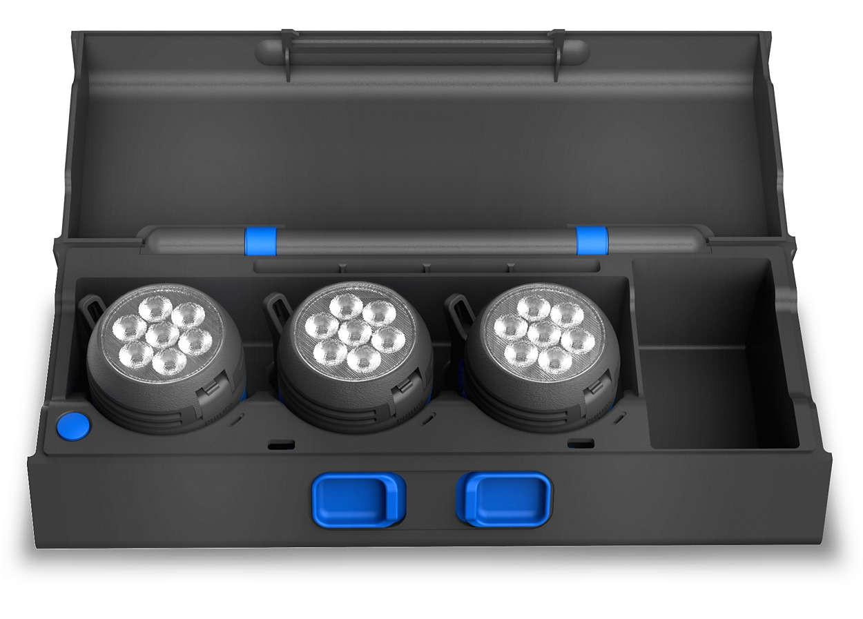 LED-Werkstattlampe-MDLS-hohe-CRI-Multidirektionales-Beleuchtungssystem-Philips Indexbild 2