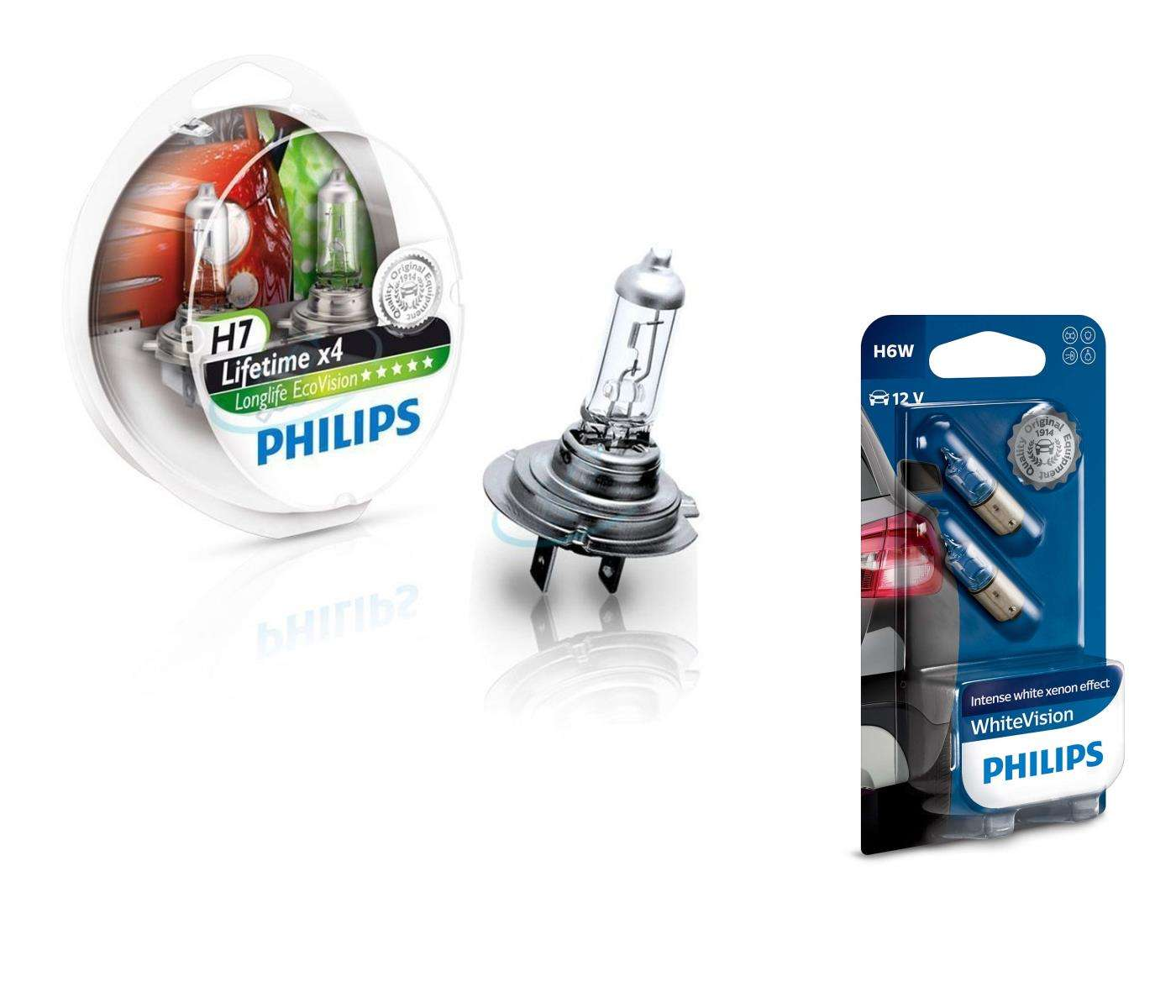 H7-12V-55W-Longlife-Ecovision-x4-Extra-Lifetime-2St-Philips-H6W-Visione-Bianca