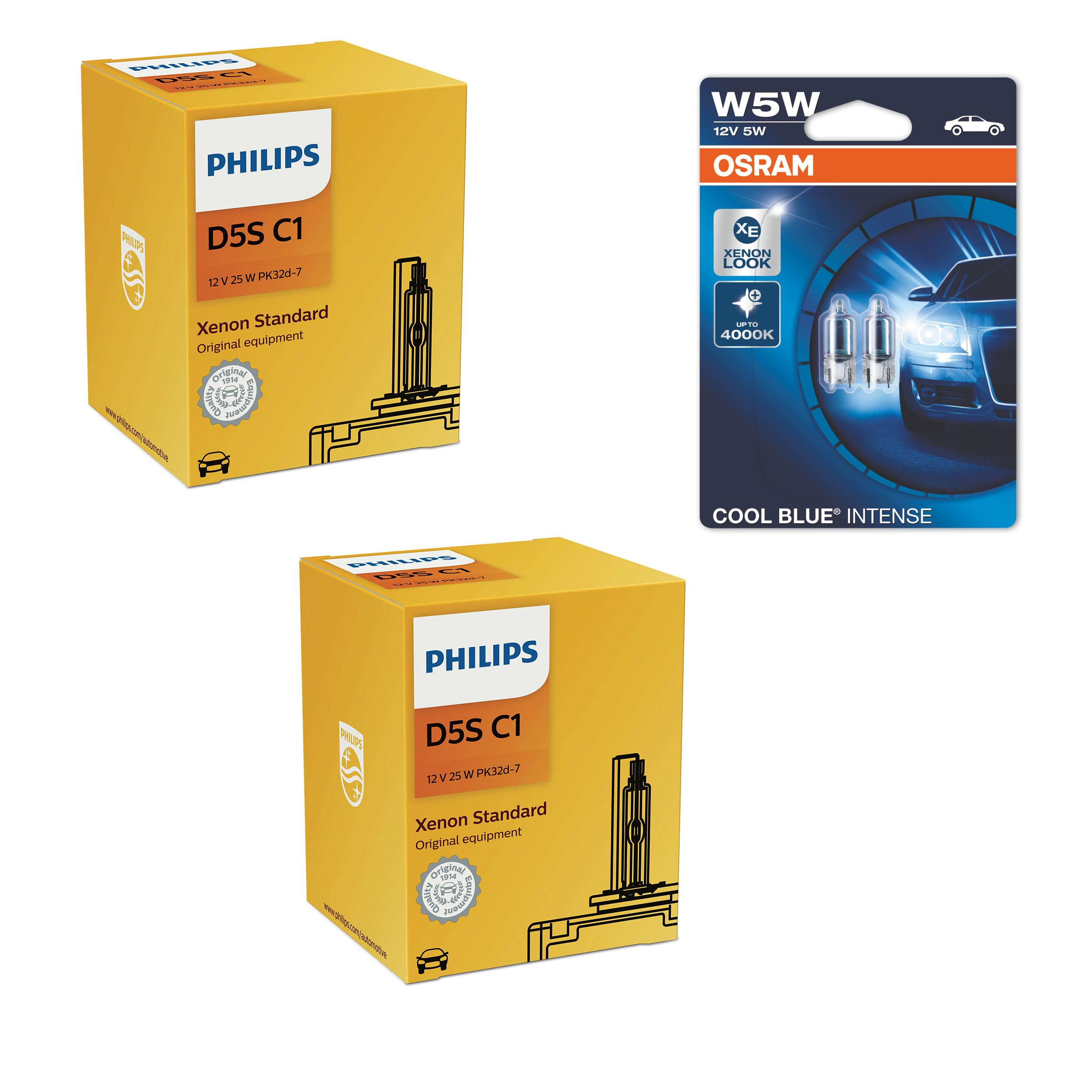 D5S-12V-25W-Vision-Xenon-Brenner-4600K-2St-Philips-W5W-Cool-Blue-Intense