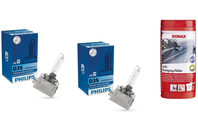 D3S-42V-WhiteVision-Xenon-gen2-5000K-2St-Philips-Sonax-Lackreinigungstuecher
